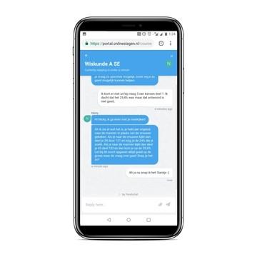 online examentraining chatondersteuning