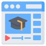 afbeelding over e-learning met een graduation hat