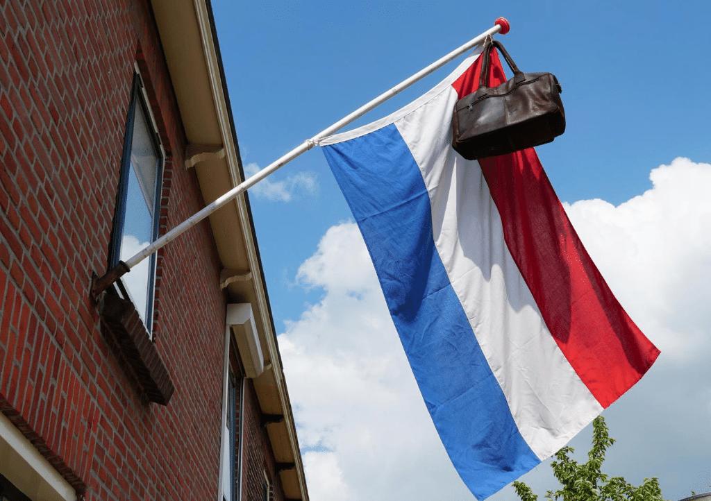 Nederlandse vlag geslaagd eindexamen
